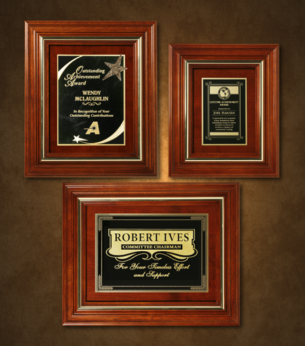 """Americana Plaque 15-3/4"""" x 12-3/4"""" with Wood Insert"""