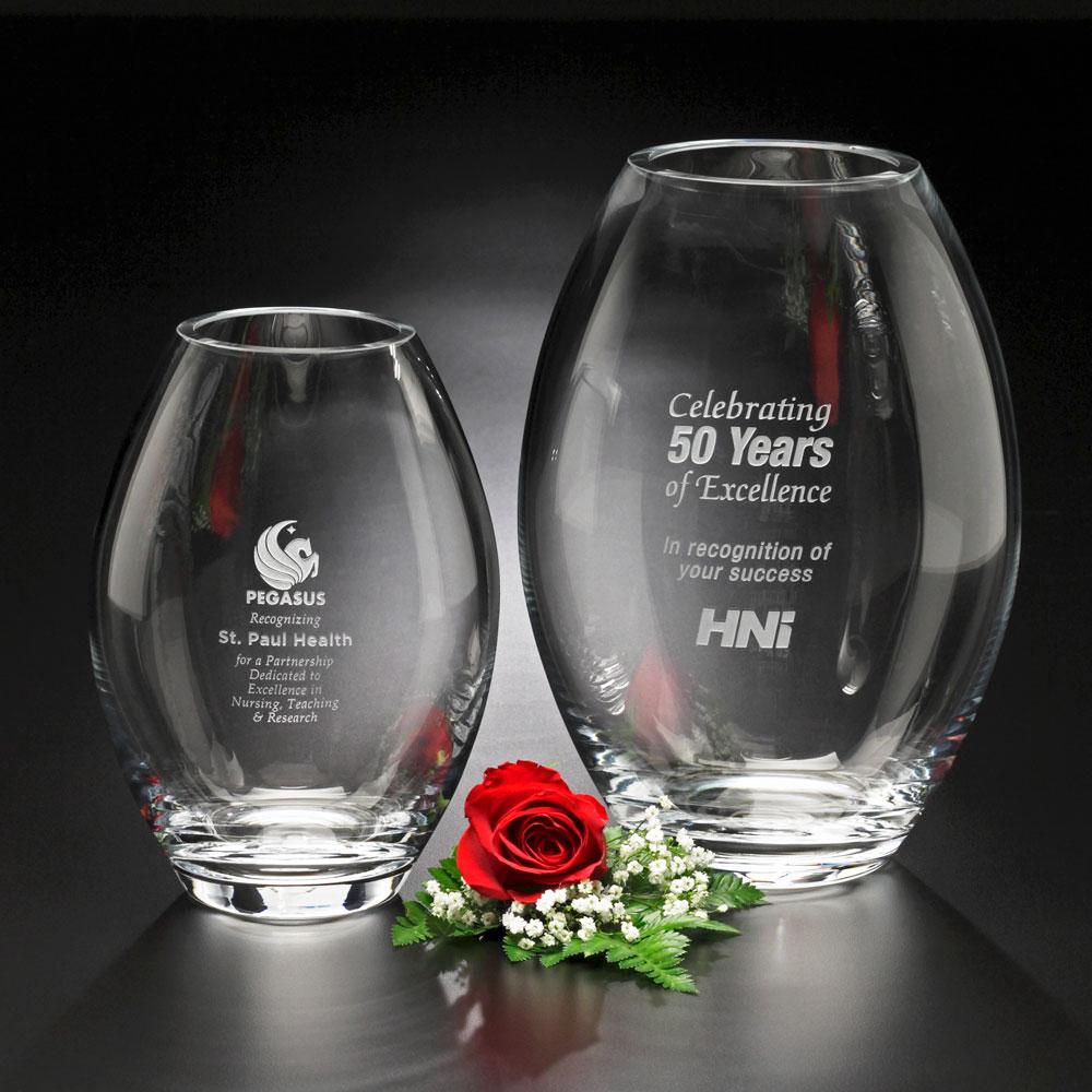 """Clear Barrel Vase 10-1/2"""""""