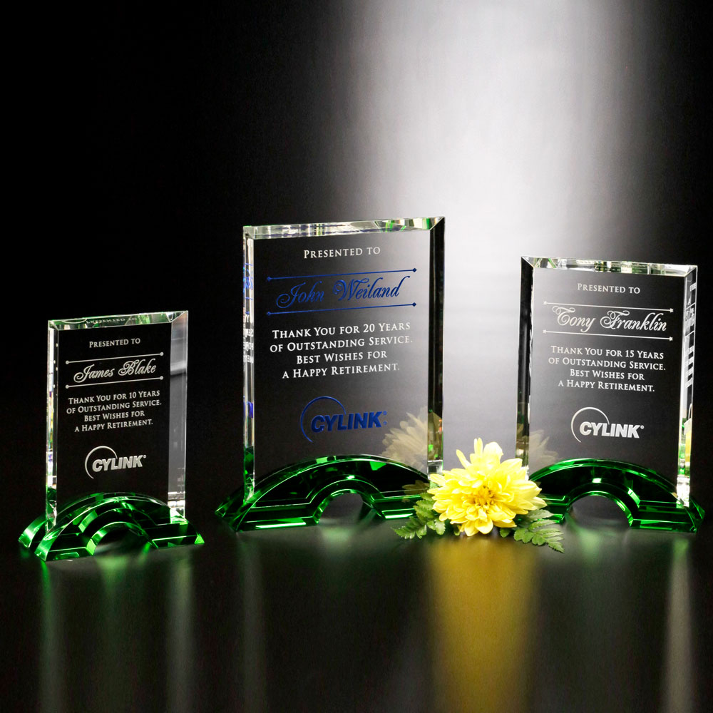 "Greenbury Emerald Rectangle 8-1/2"""