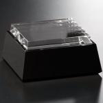 Black and Optical Crystal Base - Square