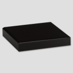 "Black Glass Base 4"" x 4"""