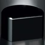 "Black Glass Base - Cut Circle 2""H"