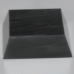 Black Marble Beveled Base 5""