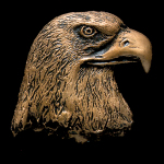 Eagle Head Bronze Accent