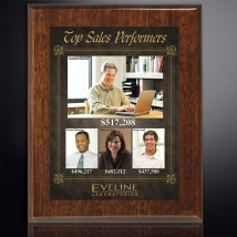 """Aberdeen Walnut Plaque 7"""" x 9"""" with Sublimated Plate"""