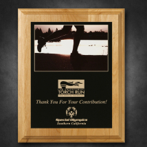 "Alder Wood Plaque 8"" x 10"" with Sublimated Plate"