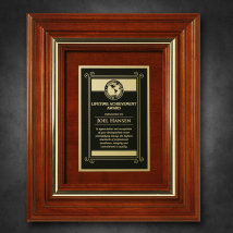 "Americana Plaque 11-3/4"" x 9-3/4"" with Wood Insert"