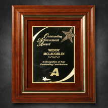 """Americana Plaque 13-1/2"""" x 11-1/2"""" with Wood Insert"""