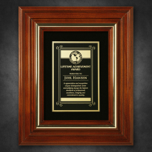 "Americana Plaque with Velour 11-3/4"" x 9-3/4"""