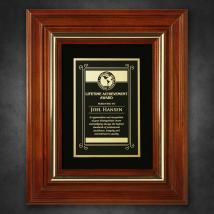 """Americana Plaque with Velour 11-3/4"""" x 9-3/4"""""""