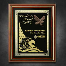 "Americana Shadow Box with Glass 12-1/2"" x 15-1/2"""