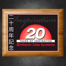 "Bamboo Plaque 7"" x 9"" with Sublimated Plate"
