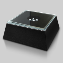 Black Mirrored Lighted Square Base 2-3/8""