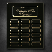 "Black Piano Finish Perpetual Plaque 10-1/2"" x 13"""
