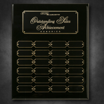 "Black Piano Finish Perpetual Plaque 12"" x 15"""
