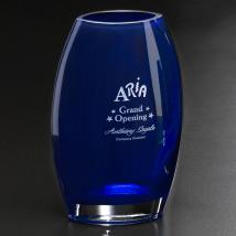 """Cobalt Oval Vase 10-1/2"""""""