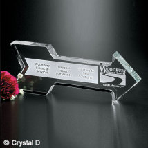 "Crystal Arrow 8"" W"