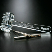 "Crystal Gavel 9-1/4"" W"