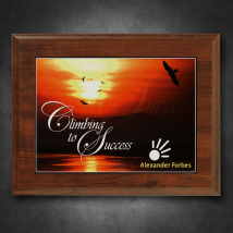 "Econo Cherry Plaque 7"" x 9"" with Sublimated Plate"