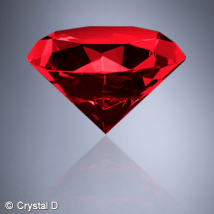 "Ruby Diamond 3-1/8"" Diameter"