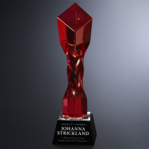 Twisted Diamond Ruby Award 11""