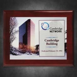 """Aberdeen Rosewood Plaque 8"""" x 10"""" with Sublimated Plate"""