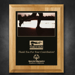 """Alder Wood Plaque 8"""" x 10"""" with Sublimated Plate"""