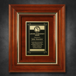 """Americana Plaque 11-3/4"""" x 9-3/4"""" with Wood Insert"""
