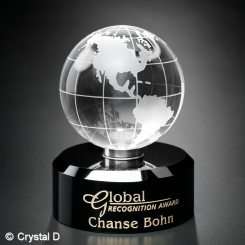 "Award In Motion® Globe 4-3/4"" Image"