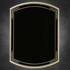 """Barrel Mist-Black on Gold 6"""" x 8"""" Image"""