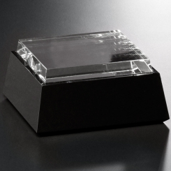 Black and Optical Crystal Base - Square Image