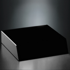 Black Glass Base 5 x 5 x 1-1/4 Image