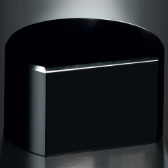 "Black Glass Base - Cut Circle 2""H Image"