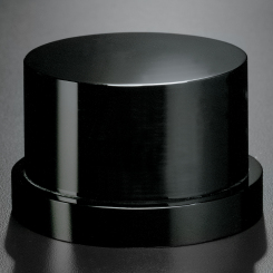 Black Glass Base - Round Tiered Image
