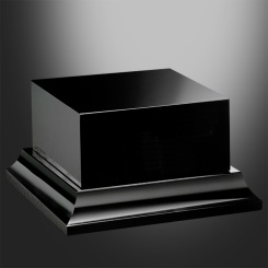 Black Glass Base - Square Tiered Image