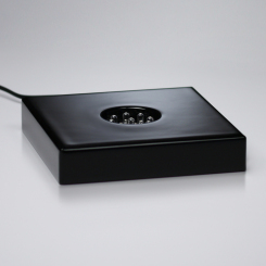 "Black Piano Finish Lighted Square Base 4-1/4"" Image"