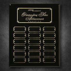"Black Piano Finish Perpetual Plaque 10-1/2"" x 13"""