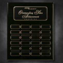 "Black Piano Finish Perpetual Plaque 12"" x 15"""