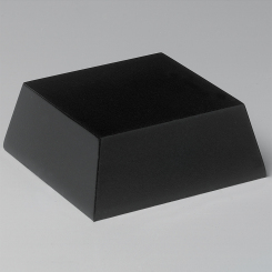 "Black Wood Base 3-3/4"" Square"