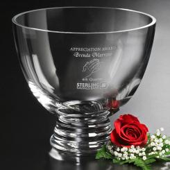 "Clear Pedestal Bowl 8-1/2"" Dia. Image"
