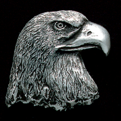 Eagle Head Pewter Accent Image
