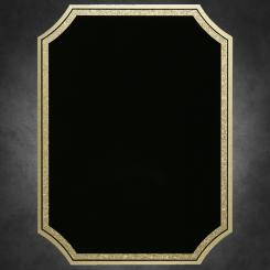 "Florentine Notched-Black on Gold 6"" x 8"" Image"