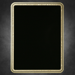 "Florentine Rnd Corner-Black on Gold 6"" x 8"""