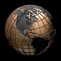 Globe Bronze Accent Image
