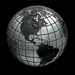 Globe Pewter Accent Image
