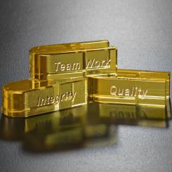 Goal-Setter Block - Gold Image