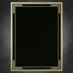 """Golden Leaf-Black on Gold 6"""" x 8"""""""