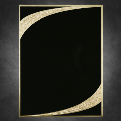 "Majestic-Black on Gold 7"" x 10"" Image"