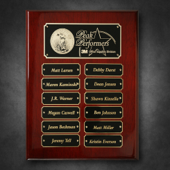 "Rosewood Piano Finish Perpetual Plaque 9"" x 12"" Image"