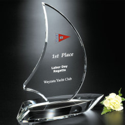 "Sailboat Award 9-1/4"" Image"